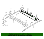 Roof Luggage Carrier Cross Rail - Ford (JL1Z-7855107-AA)