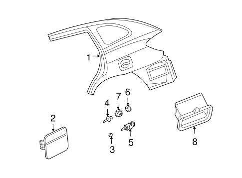 Quarter Panel Components For 2004 Kia Rio