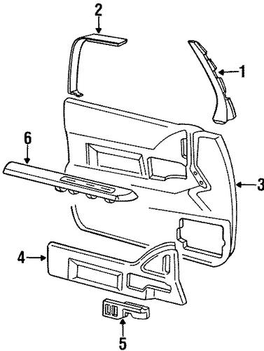 Oem 1993 Buick Lesabre Interior Trim Front Door Parts