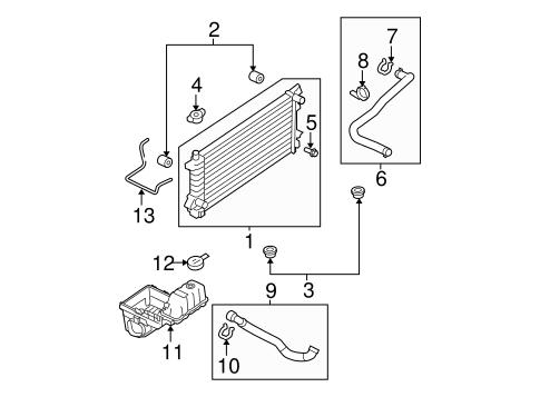 radiator components for 2010 ford f 150 oemfordpart. Black Bedroom Furniture Sets. Home Design Ideas