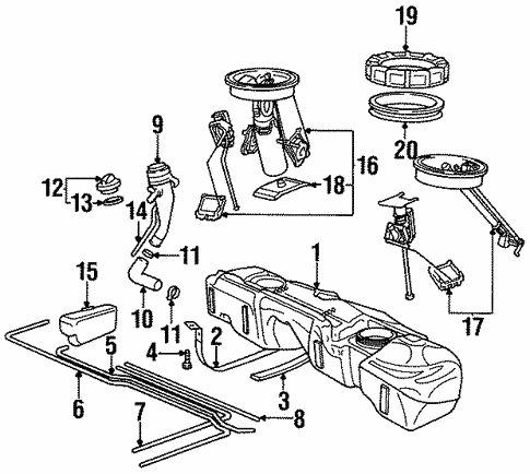 Fuel System Components For 1997 Bmw 318ti