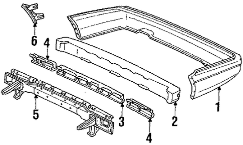 Member, Rear Bumper Joint (Upper)
