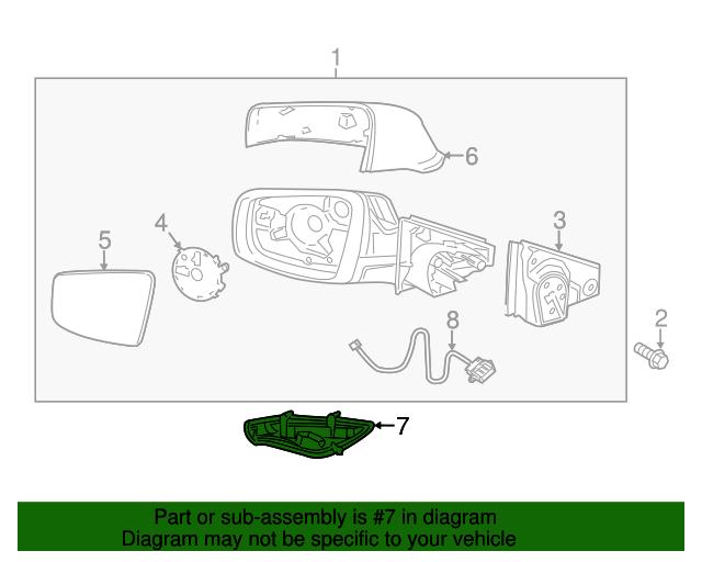 Genuine Buick LaCrosse Signal Lamp 20760212