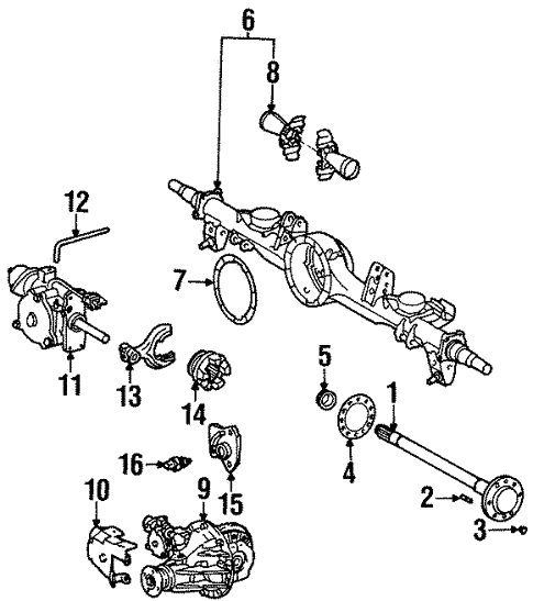 Axle Differential For 1997 Toyota Land Cruiser