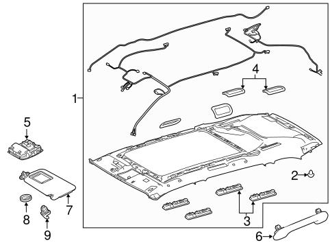 Interior Trim Roof For 2015 Toyota Highlander