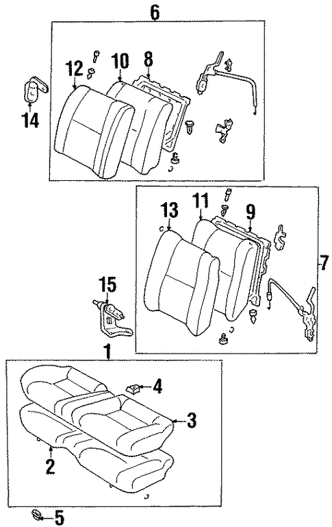 Rear Seat Components For 1999 Toyota Celica