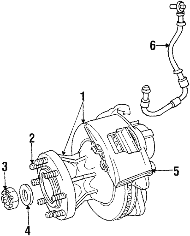 1994 1999 Dodge Hub Rotor 52008208