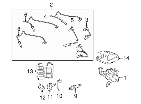 oem 2009 saturn vue ignition system parts. Black Bedroom Furniture Sets. Home Design Ideas