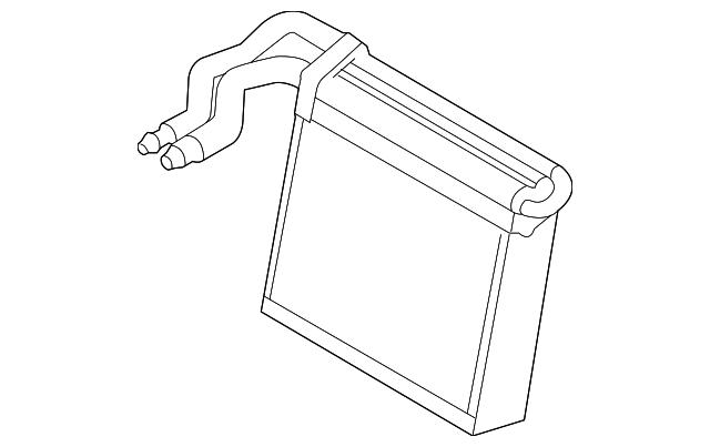 genuine ford evaporator core cv6z