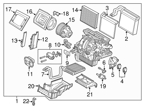HVAC/Evaporator & Heater Components for 2017 Ford Focus #2