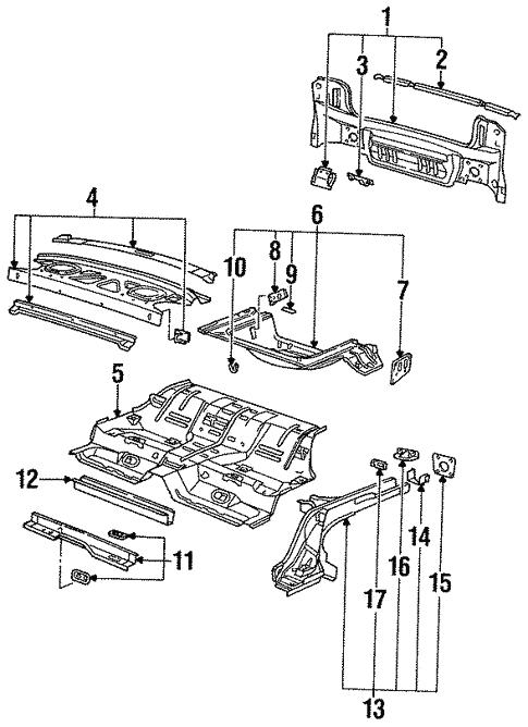 Rear Body For 1996 Saturn Sc2
