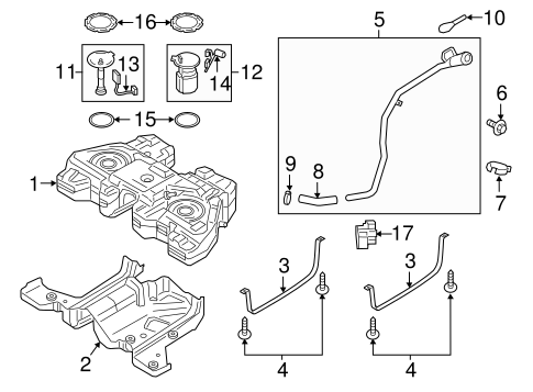 Fuel System/Fuel System Components for 2017 Ford Edge #2