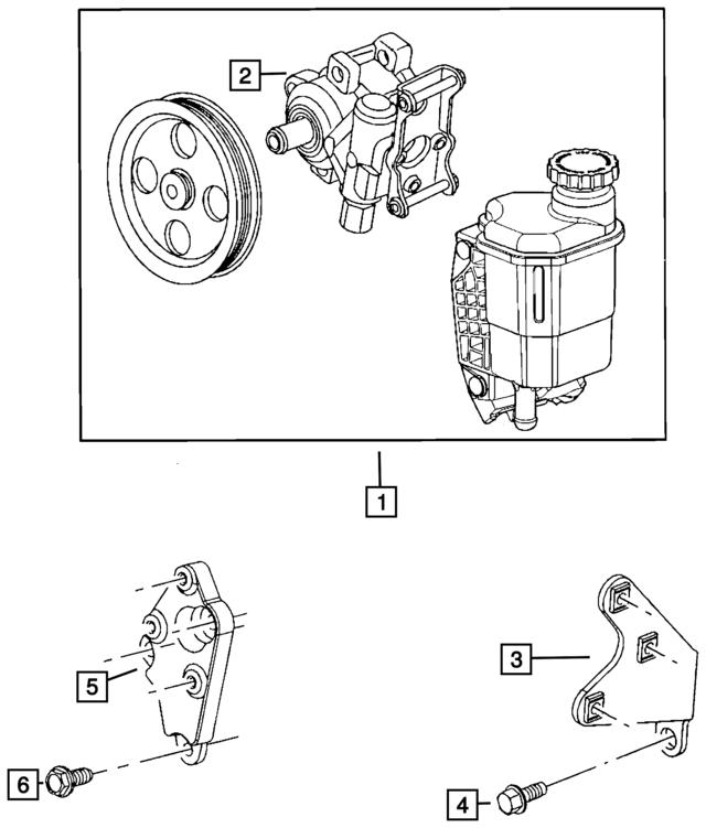 2008 2009 Ram Pump Pulley Steering Pump Kit Remanufactured