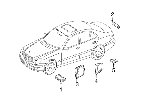 Keyless Entry Components for 2008 Mercedes-Benz E 320 #1