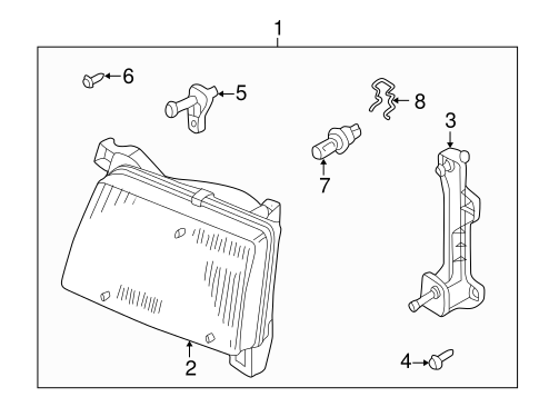 Headlamp Components For 1998 Nissan Frontier