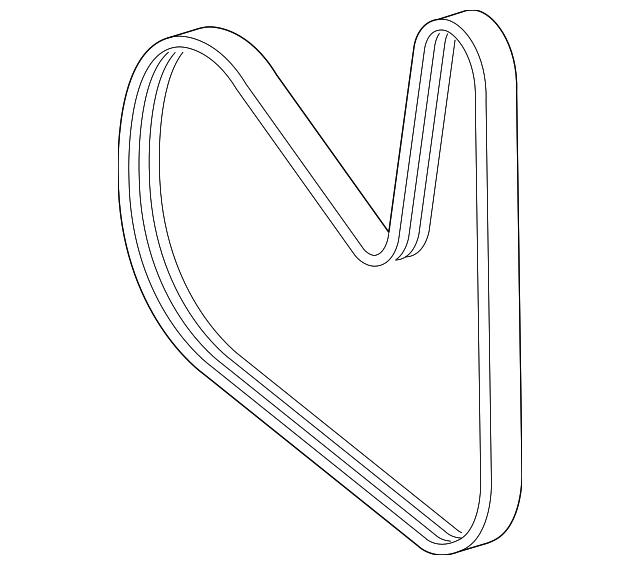 Serpentine belt mercedes benz 003 993 41 96 mb oem parts for Mercedes benz serpentine belt replacement