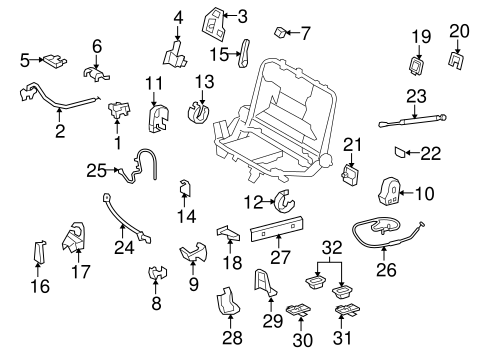 TOYOTA 78920-60080-B1 Fold Seat Lock Control Cable Assembly