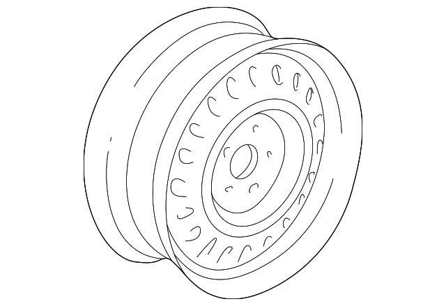 2000 2005 Dodge Neon Wheel Steel 4656322ab