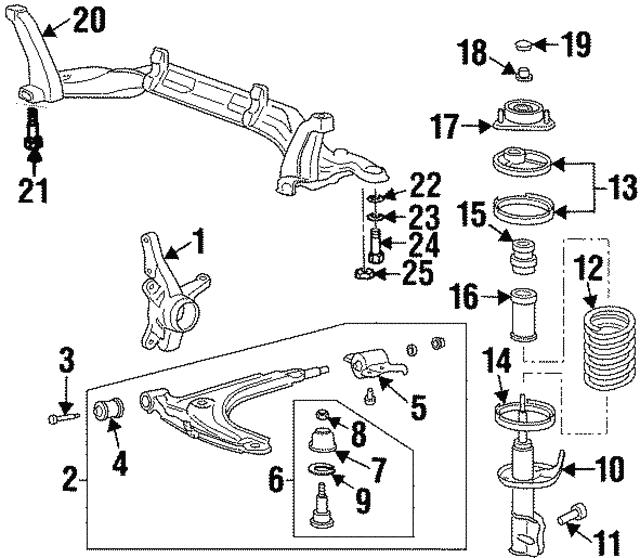 Right Lower Genuine Hyundai 54501-29000 Complete Arm