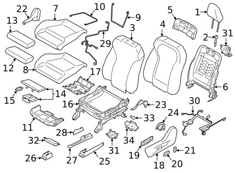 Driver Seat Components For 2019 Subaru Ascent