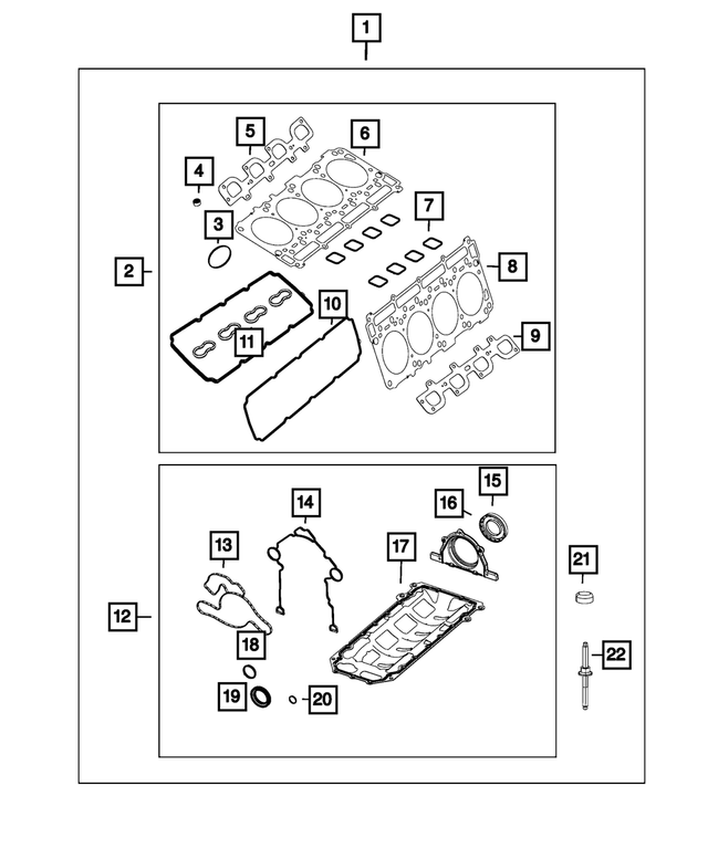 GENUINE MOPAR 68086655AA EXHAUST MANIFOLD GASKET B20