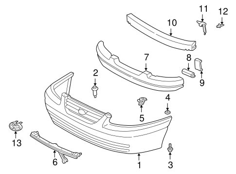 BODY/BUMPER & COMPONENTS - FRONT for 1998 Toyota Camry #1