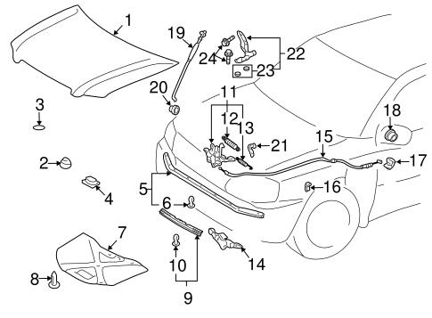 Hood Components For 2001 Toyota Highlander