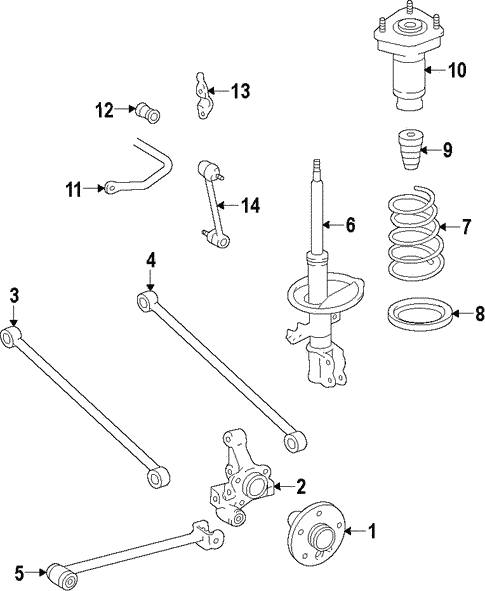Rear Suspension for 2015 Toyota Avalon #1
