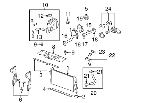 2001 Lincoln Navigator Engine Diagram moreover Radiator And  ponents Scat in addition 2005 Nissan Altima 3 5 Engine Diagram further RepairGuideContent likewise RepairGuideContent. on thermostat housing 2005 buick lacrosse