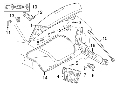 Lid Components For 2005 Dodge Stratus