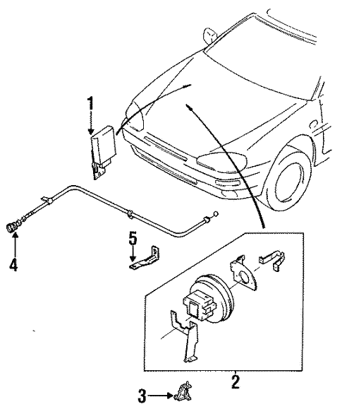 Genuine Oem Cruise Control System Parts For 1993 Mazda Mx 3 Base