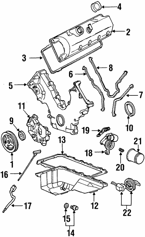 Engine Parts for 1998 Mercury Grand Marquis | Haag Ford Parts | 1998 Mercury Marquis Engine Diagram |  | Haag Ford Parts