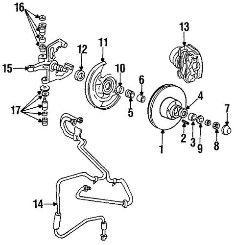 1996 Mazda Protege Suspension: Steering Knuckle For 1996 Mazda B2300