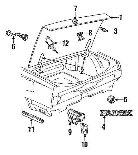 oem lid  u0026 components for 1996 buick lesabre