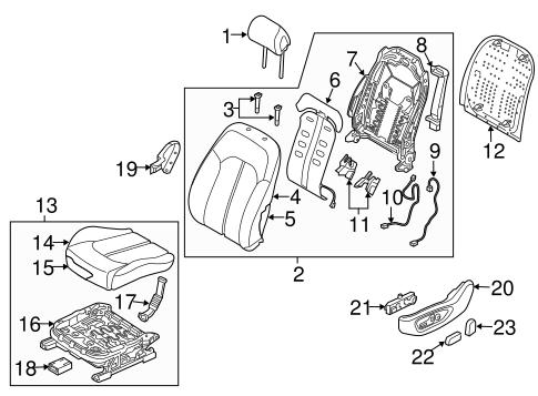 sonata body  driver seat components parts