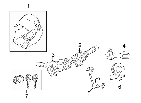 STEERING/SHROUD, SWITCHES & LEVERS for 2010 Toyota Corolla #1