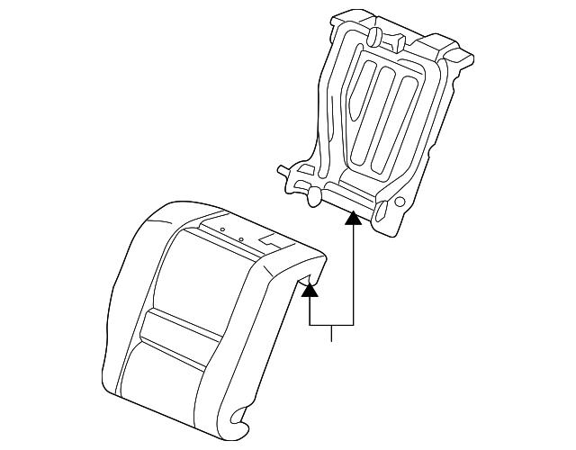 Rear Honda Genuine 82131-SDN-A31ZB Seat Cushion Trim Cover