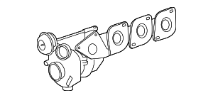 Exhaust Manifold - Mercedes-Benz (278-090-30-80)
