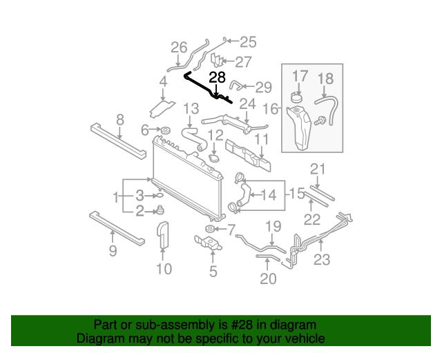 Radiator Hose - Subaru (45175AG01A) | Subaru Parts