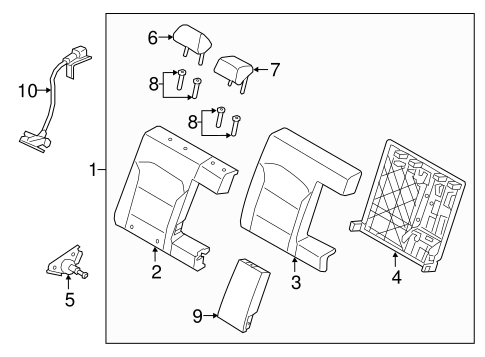 Rear Seat Components For 2018 Hyundai Elantra