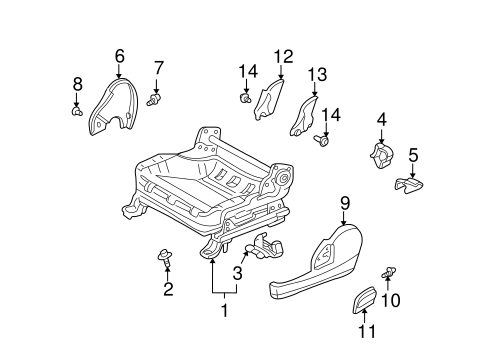 BODY/TRACKS & COMPONENTS for 2001 Toyota Echo #1