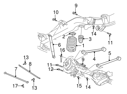 Rear Suspension for 2004 Oldsmobile Bravada #1