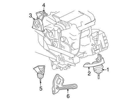 Engine Trans Mounting For 2007 Chrysler Pacifica
