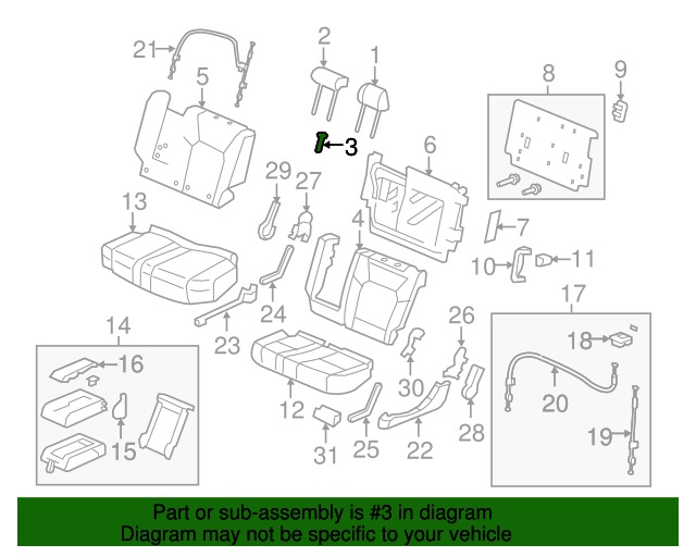 headrest guide honda 81143 sm4 j01c9 hondaparts rh hondapartsonline net honda parts interchange guide Honda Civic Parts