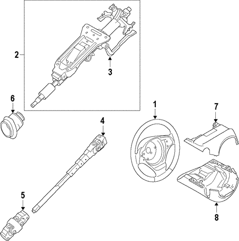 Steering Column for 2014 BMW 320i #0