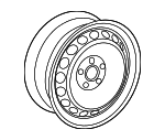 18 In Wheel Twister C5Y - Volkswagen (5C0-601-025-AK-AX1)