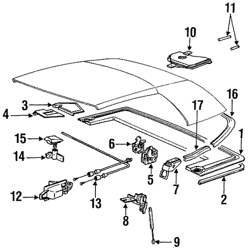 Folding Top Hardware for 1991 BMW 325i #0