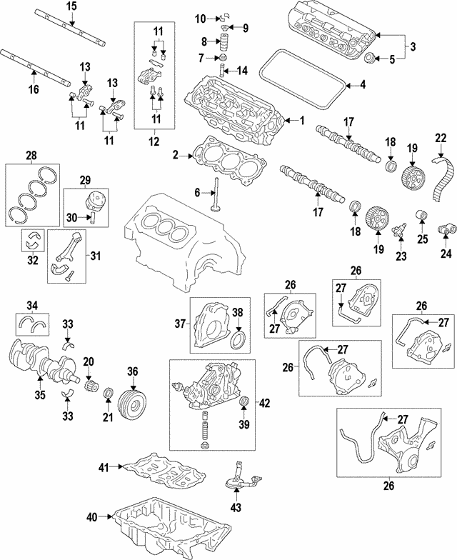 Cover Assembly, Timing Belt (Lower) - Honda (11810-RCA-A01)
