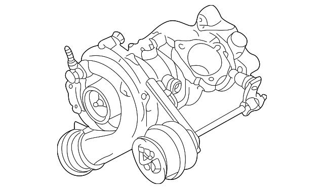 2000 2001 Volkswagen Turbocharger 06a 145 704 Bx
