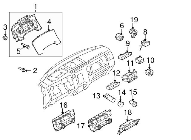 Genuine Ford Dash Control Unit AL3Z-19980-P